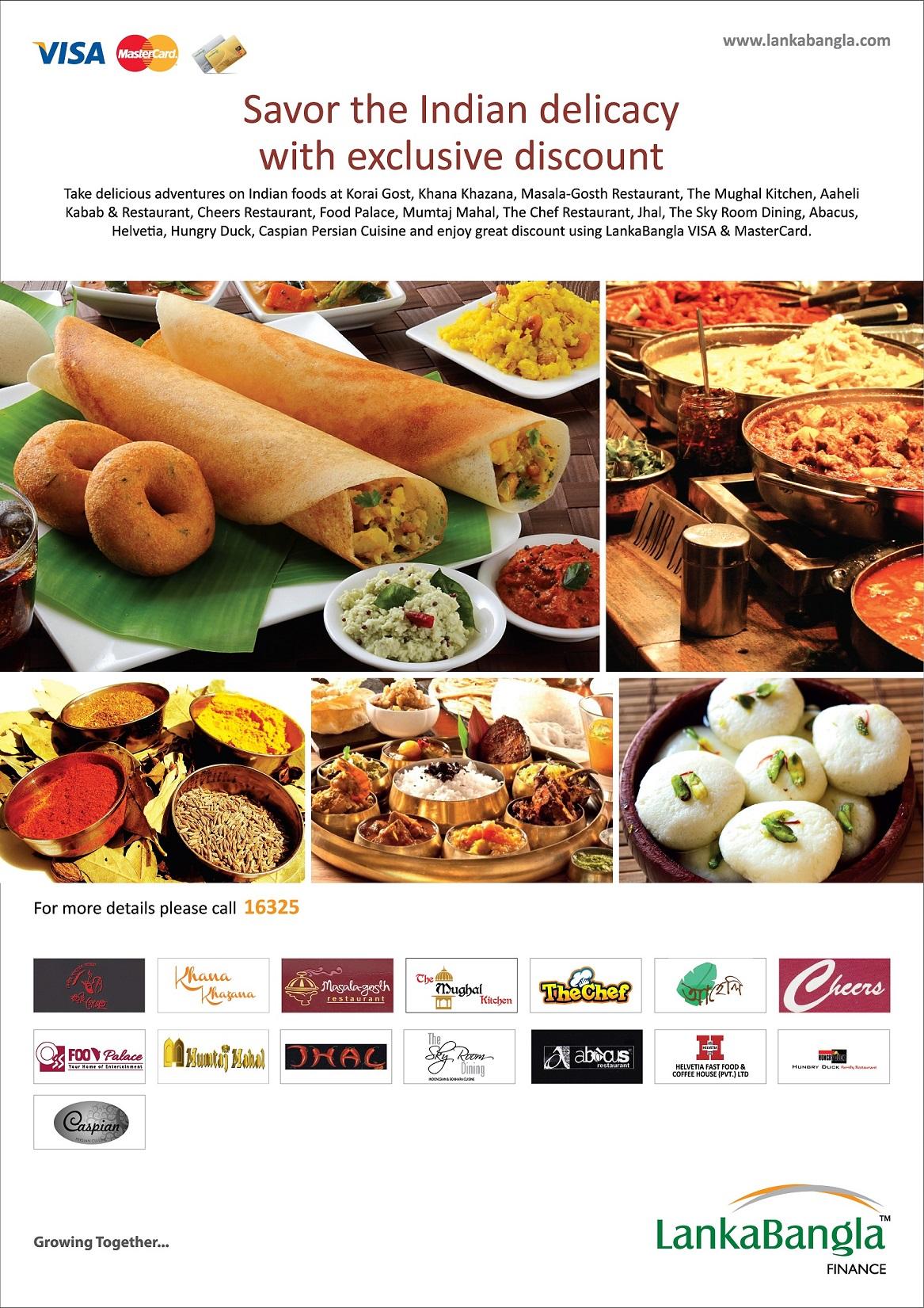 Lanka bangla credit card for Akbar cuisine of india coupon